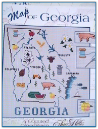 Georgia Map / Sue Hillis Designs