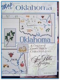 Oklahoma Map / Sue Hillis Designs