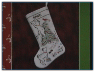 Britty Puppy Christmas Stocking / Brittercup Designs