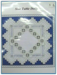 Sidetable Doily / Satin Stitches