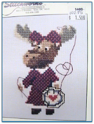 Mandy the Stitcher Moose / Stitchworks