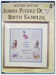 Jemima Puddle Duck Birth Sampler / Green Apple