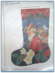 Christmas Rose Stocking / Ellen Mauer Stroh