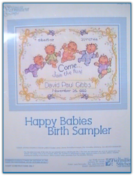 Happy Baby's Birth Sampler / Vermillion