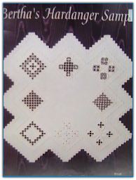 Bertha's Hardanger Sampler / Linda's Sewing Room