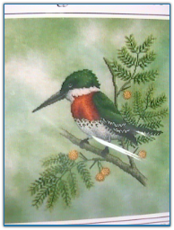 Green Kingfisher / Crossed Wing Collection