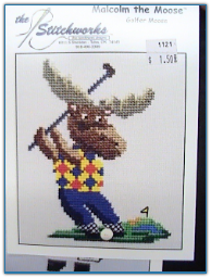 Golfer Malcom the Moose / Stitchworks