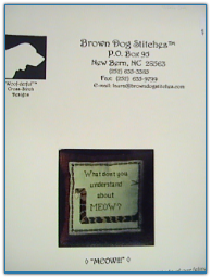 Meow / Brown Dog Stitches