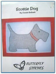 Scottie Dog / Butterfly Stitches
