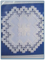 Rose Doily / Satin Stitches