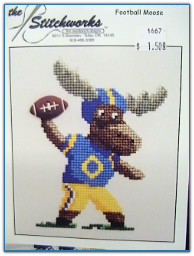 Football Malcolm the Moose / Stitchworks