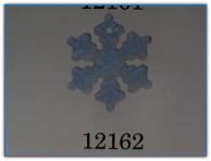 Medium Snowflake Matte Crystal