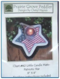 Little Candle Mats Patiotic Star / Prairie Grove Peddler