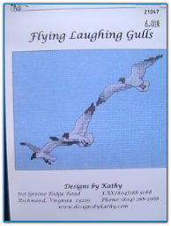 Flying Laughing Gulls / Designs by Kathy