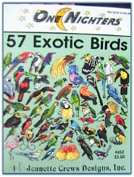 57 Exotic Birds / One Nighters / Jeanette Crews Designs