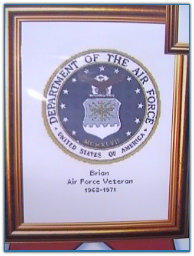 Air Force Seal / Cody Country Crossstitch