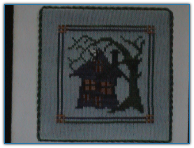 Halloween Haunted House Quilt / Handblessings