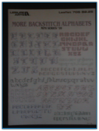 More Backstitch Alphabets / Leisure Arts