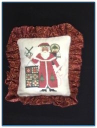 Santa 2005 on Flax Pillow