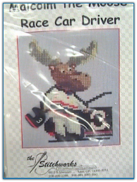 Malcolm the Moose Race Car Driver / Stitchworks
