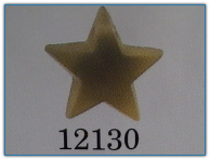 Large Domed Star Matte Light Topaz