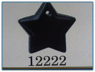 Large Flat Star Black