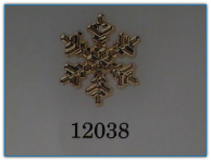 Medium Snowflake Gold