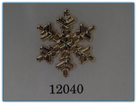 Large Snowflake Gold