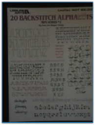 20 Backstitch Alphabets / Leisure Arts