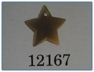 Medium Star Matte Light Topaz