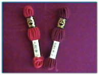 DMC Tapestry Wool Yarn Small Skeins Reds